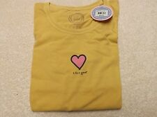 "LIFE IS GOOD  Women's Fitted Crusher Tee E/S ""Heart"" Size M NWT@$35"