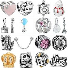 Women Handmade New 925 Sterling Silver Charms European Beads For Brand Bracelets