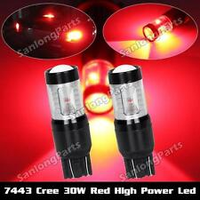 7443 992 7505 Tail Stop Brake/light Bulbs 6-Cree-XBD Red 30W Projector LED