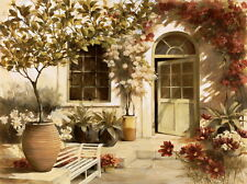 Canvas Print Oil painting Picture Beautiful garden house printed on canvas L943