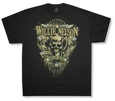 Willie Nelson Genuine Outlaw Music Black T Shirt New Official Zion