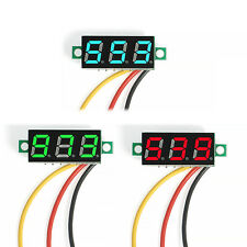 Mini DC 0-100V Voltmeter with 3 Wires 3-Digital LED Diaplay Voltage Panel Meter