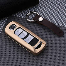 Car Key Cases Covers For Mazda Smart Key Aircraft Grade Aluminum Genuine Leather