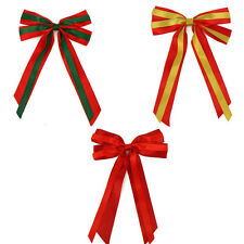 "7"" Christmas Decoration Giant Bows & Long tails x 2 Florist Wreath"