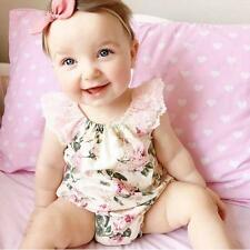 Newborn Infant Baby Girl Jumpsuit Price Floral Print Lace Romper Outfits Sunsuit