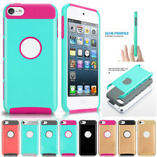 Slim Glossy Plastic Rugged Rubber Hard Case Cover for Apple iPod Touch 5th 6 Gen