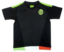 Mexico Soccer Futbol Black Home Jersey Shirt w/ Patch Logo Youth 6,8,10,12