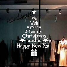 Merry Christmas Happy New Year Wall Stickers Vinyl Decal Window Decoration lem