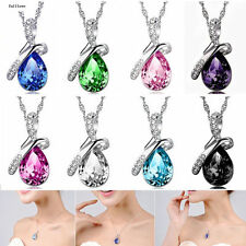 NEW Necklace Heart Chain HOT Pendant Crystal Jewelry Silver Rhinestone Women