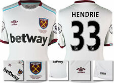 *16 / 17 - UMBRO ; WEST HAM UTD AWAY SHIRT SS + PATCHES / HENDRIE 33 = SIZE*