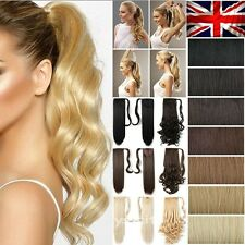 UK Clip In Ponytail Deluxe New 17-26 Inch Wrap Around Pony Tail Hair Extensions
