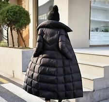 fashion girls womens duck down hooded long Jacket coat parka outerwear winter @@