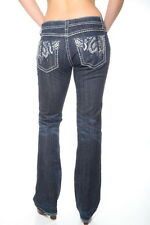 WOMENS MISS ME LOW RISE DARK WASH JEANS SIZE 30X34