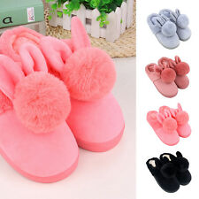 New Winter Adult Cotton Soft Plush Indoor Home Flip Shoes Non-slip Warm Slippers