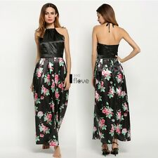 Sexy Women Backless Prom Party Long Dress Floral Formal Evening Gown Dress ILOE