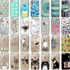Fashion Cute Animals Ultra Thin Soft TPU Phone Case Cover For iPhone 5S 6S 7