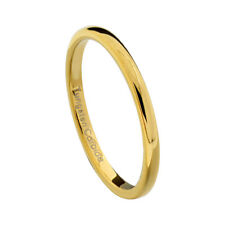 2mm Gold Plated Tungsten Jewelry Women's Wedding Band Ring