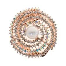 Women Ladies Brooch Jewelry Luxury Rhinestone Pearl Scarf Clip Brooches Pin