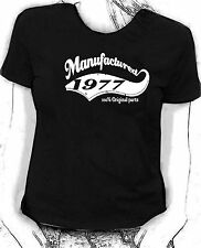 """""""Manufactured in 1977"""" 100% original parts - Birthday humour Skinni fit  t-shirt"""