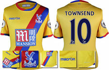 16 / 17 - MACRON CRYSTAL PALACE AWAY SHIRT SS + PATCHES / TOWNSEND 10 = SIZE*