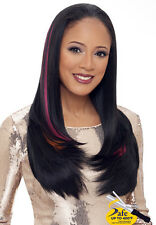 FASHION WOMEN'S LONG NATURAL STRAIGHT CURL COSTUME HALF WIG WG204