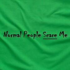 Normal People Scare Me Funny Unique Tee T-Shirt Green