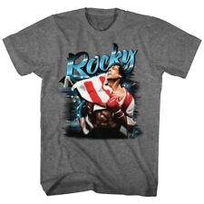 T-Shirts Sizes S-2XL New Officially Licensed Mens Rocky Airbrush Retro T-Shirt