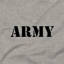 Army Military US Army Tee T-Shirt Gray