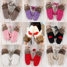 Women's Gloves Warmer Mittens Finger Winter Warm Knit Gloves New Fashion