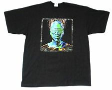 Kanye West Robot Glow in the Dark Tour USA CDN Black T Shirt New Official