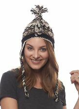 Frosted Punk Nepal Wool Hat with Mohawk