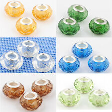 10PCS Craft DIY lampwork Crystal beads For European beaded Charms bracelet Makes