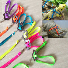 Adjustable Reptile Lizard Harness Leash Durable Multicolor Pet Soft Rope Cheaply