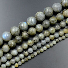 Natural Labradorite Gemstone Round Beads 15.5''  4mm 6mm 8mm 10mm