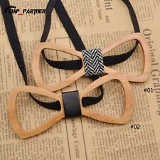 Creative Hollowed-out Mens Wooden Bow Tie Colorful Wood Wedding Bow Tie Fashion