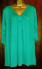NEW PLUS SIZE 16 - 32 Captive CURVY TUNIC TEAL Long Top Blouse