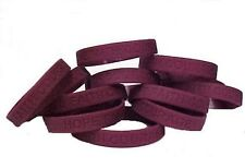 "Burgundy Awareness Bracelets 50 Piece Lot Cancer Cause Silicone Wristband 8"" New"