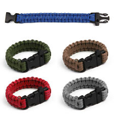 Reflective Rope Bracelet with Whistle Gear Kits Outdoor Rope Paracord Survival