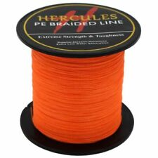 Orange Weave Braid Spectra PE Dyneema 100M-2000M 6lb-300lb Hercules Fishing Line