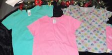 NWT GIRLS SHIRTS LOT 3 PACK OF GIRLS SMOCK TOPS GIRLS 6-6X OR 7/8 LOT OF 3 SALE