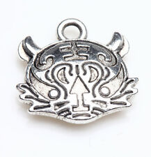 Wholesale 5/20Pcs Tibet Silver Charm Pendant Silver Jewelry Findings 15X14MM
