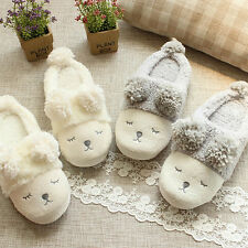 1 Pair Lovely Chic Winter Warm Plush Sheep Indoor Slippers Women Soft Home Shoes