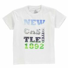 NUFC Kids Photo Text T Shirt Junior Boys Football Sports Training Running Tee