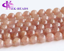 AA Strawberry Quartz Lepidolite rosite Russia Red Muscovite Round Loose Beads