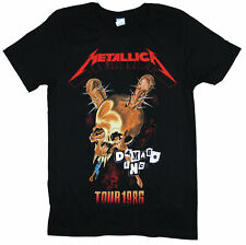 Metallica Damage Inc 1986 Tour Reissue Black T Shirt New Official Pushead