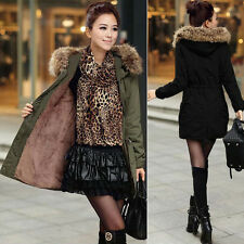 New Winter Women Warm Long Parka Fur Hooded Thicken Coat Jacket Overcoat Outwear