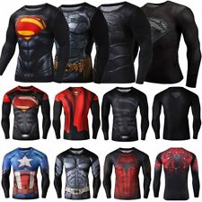 Mens Compression Casual Sports T-Shirt Marvel Superhero Costume TeeCycling Shirt