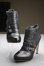 Sam Edelman 'Kenley' Ankle Booties High Heel Boots Black Leather Size 10 M