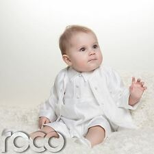 White Christening Outfits for Boys, Baby boys christening Romper, baby boy Suits