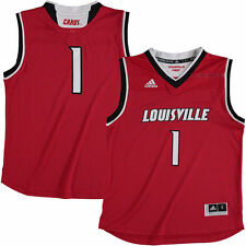 1 Louisville Cardinals adidas Youth Replica Basketball Jersey - Red - NCAA